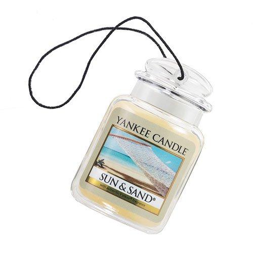 Yankee Candle Gel Car Jar Ultimate Hanging Odor Neutralizing Air Freshener Sun and Sand Scent