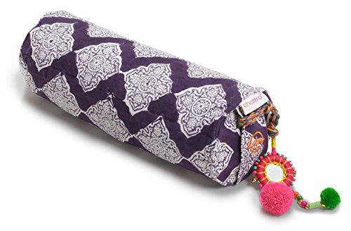 Chattra Plum Jali Neck Cushion