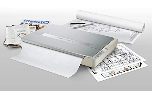 Plustek A3 Flatbed Scanner OS 1180 : 11.7×17 Large Format scan Size for Blueprints and Document. Design for Library, School and Soho. A3 scan for 9 sec, Support Mac and PC (Renewed)