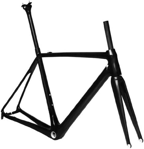 フルカーボン UD 光沢 700c ロードバイク 自転車 BSAフレーム フォーク シートポスト 56cm