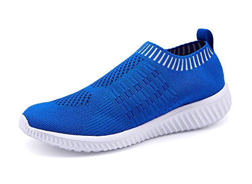 (XMDR Women's Fashion Sneakers Breathable Mesh Casual Sport Shoes Comfortable Walking Shoes Blue 36)