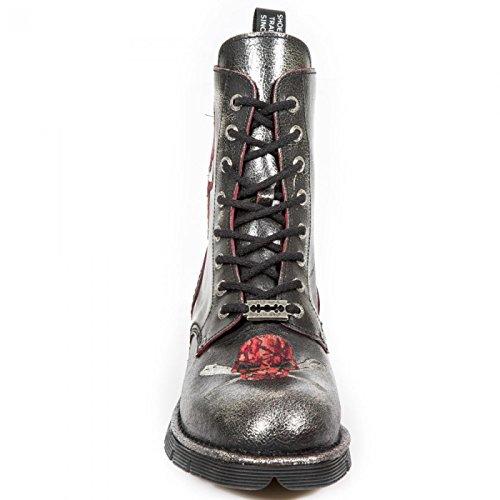 New Rock Boots M.newmili85-c7 Gotico Hardrock Punk Unisex Stiefel In Acciaio Colorato