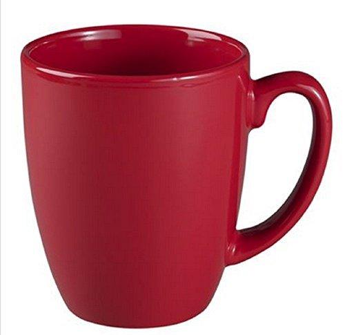 Corelle Livingware 11 oz Stoneware Mug, Berry, Set of 4 (Coffee Cup Corelle)