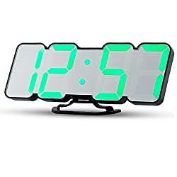 Electronic LED Digital Alarm Clock, Large Display, Uni Home Sound Control (Desk /Wall mountable) Clock Display Time, Date, Temperature, USB Charging Port and 3 Adjustable Brightness Levels.