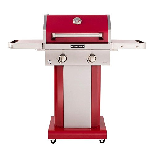 KitchenAid convertible 2Burner Propane Gas Grill in Red  -> Kitchenaid Grill Cover