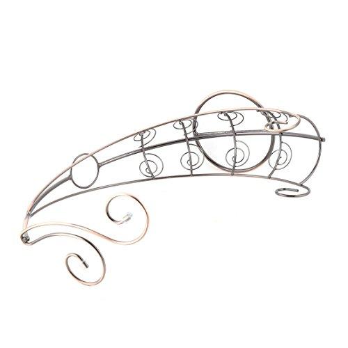 Amazon.com: eDealMax barras de acero inoxidable Barco diseño del vino Vidrios de la botella Copas rack sostenedor del soporte de tono de cobre: Kitchen & ...
