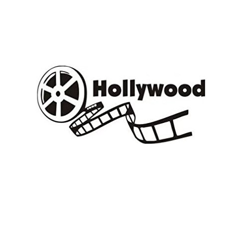 Design with Vinyl G464-48 Decor Item Hollywood Movie Reel Production Home Decor Peel and Stick Picture Art Decal Vinyl Wall Sticker, 12-Inch x 20-Inch, Black by Design with Vinyl