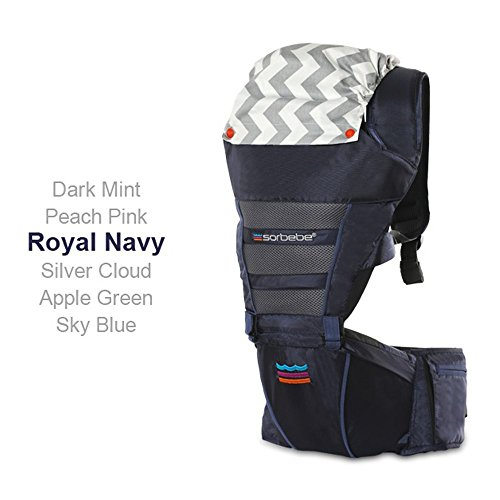 SINNAYEO - AIRO ROBIC 2.0 Hip Seat Carrier (Royal Navy) by SINNAYEO