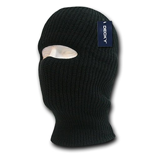 DECKY Face Mask 1 Hole Beanie, Black