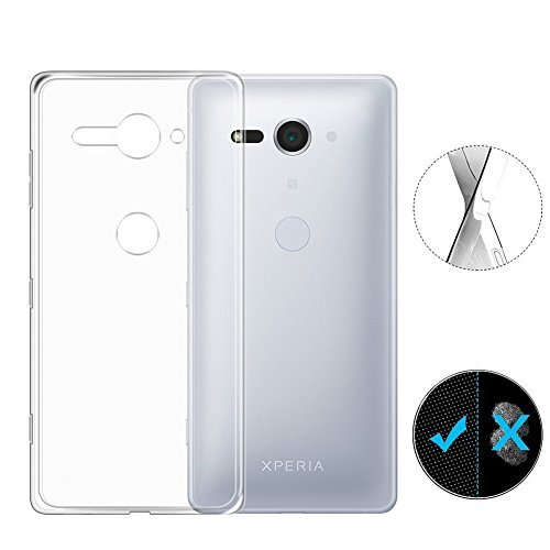 AVIDET Sony Xperia XZ2 Compact Case, Crystal Clear Soft Thin Anti-scratches Cover for Sony Xperia XZ2 Compact (Transparent)