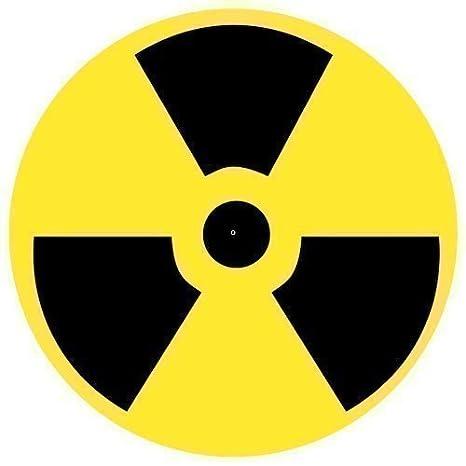 123t Slipmats - Slipmat con Símbolo de Radioactivo x 1 (Individual ...