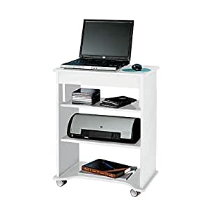 Artely Notebook Desk with Portable Top, White, 73.5 x 55 x 35 cm