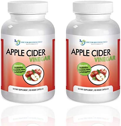 Apple Cider Vinegar Capsules – 100 Organic Apple Cider Vinegar Pills 1500 mg – Natural Digestion, Immune Booster Support Cleansing Supplement with Probiotics – Made in The USA