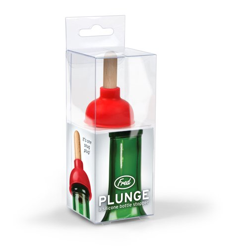 Fred PLUNGE Wine Bottle Stopper by Fred & Friends