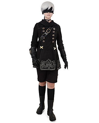 Easy Halloween Costumes On A Budget (miccostumes No.9 Type S Cosplay Costume with Bag Gloves Eyepatch (XS))