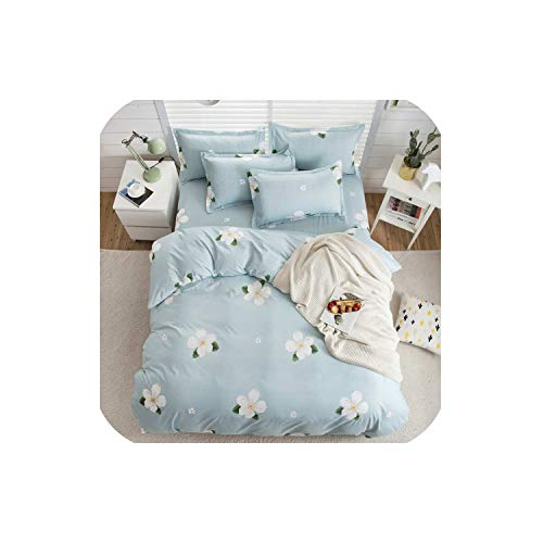 - LOVE-JING Little Footprints Duvet Cover Flat Bed Sheets +Pillowcase Super King Queen Full Twin Kids Size Cotton Bedding Set,B1,Full Cover 180By220,Flat Bed Sheet