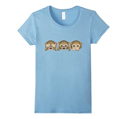 Womens Monkey Hear Speak See No Evil Three Wise T Shirt M...
