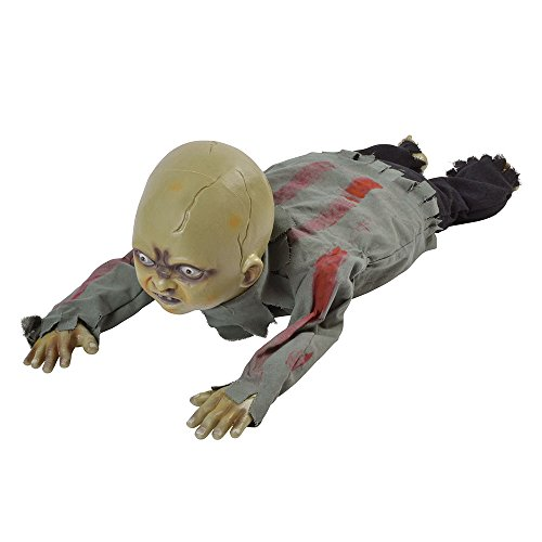 Bristol Novelty HI340 Crawling Zombie Baby, Multi-Colour, One Size -