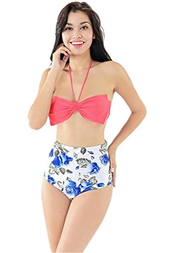 sexy-women-pinup-rockabilly-vintage-high-waist-bikini-swimsuit-swimwear-bow-bsmall-charming