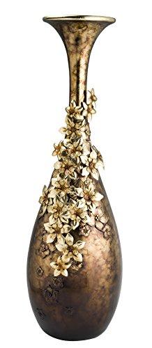 OK Lighting Virgo Orchid Golden Decorative Vase, ()