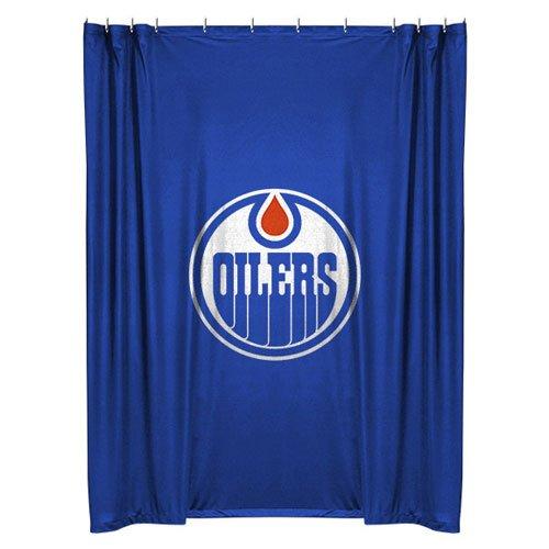 NHL Edmonton Oilers Shower Curtain Hockey Bath Accessory by NHL