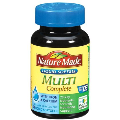 Nature Made Multi-Complete with D3, Iron & Calcium, Liquid Softgels, 60-Count (Multivitamin Men Nature Made compare prices)