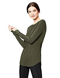 Daily Ritual Womens Supersoft Long-Sleeve Shirttail T-Shirt