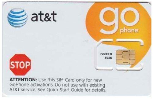 AT&T 6006A Prepaid Go Phone Pre-Paid 4G Sim Card (Micro Sim Go Phone)