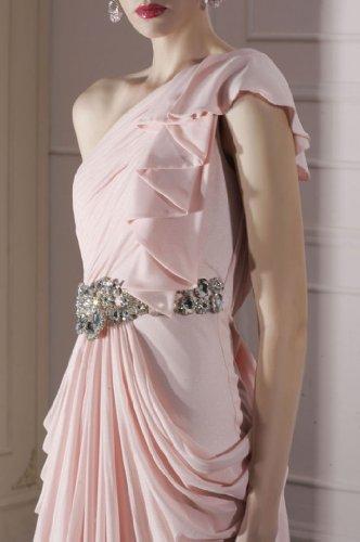 Adorona Plissé Champagne Robe De Demoiselle D'honneur Occasion Spéciale En Mousseline De Soie Longueur De Plancher Épaule