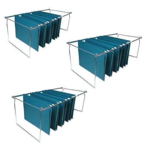 Sparco Hanging File Folder Frames Stainless Steel Letter Size Width and Adjustable Length SPR60529 (3 Pack) (Filing Cabinet Frame)