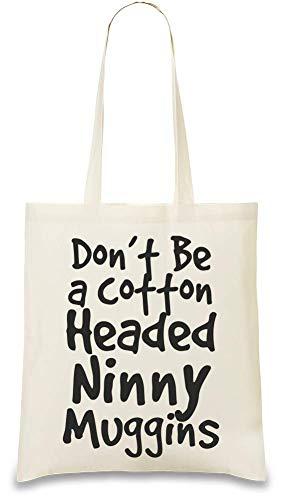 Naturel Re Bag Stylish Funny Ninny Soft Tête Color Handbag Muggins Slogan Natural amp; Coton friendly Tote Eco Headed Custom À Printed 100 usable Drôle De For Unique Cotton Cotton 4f4wgOq