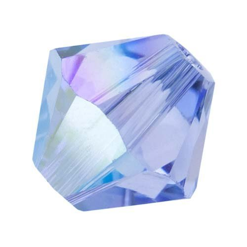 Swarovski Crystal Bicone 5301 4mm LT SAPPHIRE AB Beads (48)