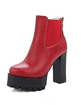 ZQ Mujer-Tacón Robusto-Confort / Botas a la Moda-Botas-Vestido