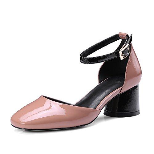 La Mujer De Mei Cuadrado Pink Bloque Tacón amp;s Toe Sandalias 7qwnp5B