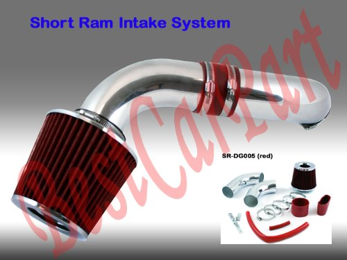 Dodge Dakota / Durango, 3.7l V6 / 4.7l V8 Short Ram Intake, Red (Included Air Filter) for 2003, 2004, 2005, 2005 Models