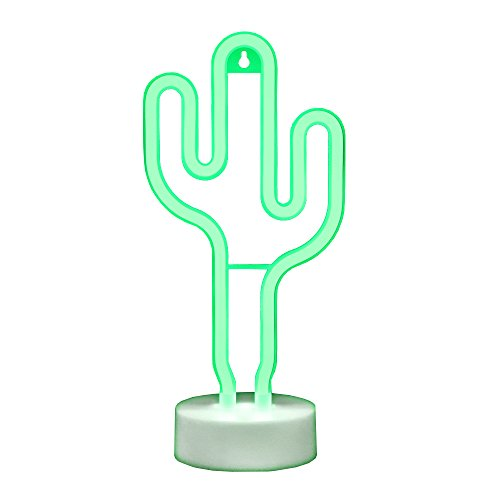 Cactus Neon Lights GUOCHENG Decor Light Led Night Light Wall Table Decor Battery Operated Creative Lighting Lamp Home Decoration Party Decoration Gift for Kids (Green Cactus) by GUOCHENG