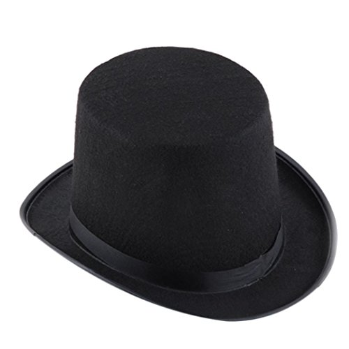 Gotd Halloween Decorations Black Hat Halloween Magician Magic Hat Jazz Hat (Black) (Circus Magician Costume)