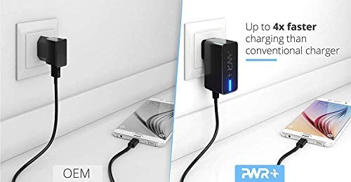 PWR Fast Charger for Speaker Phone Tablet JBL Charge 4 Flip 5 JRPOP iPhone Samsung LG ZTE HTC Huawei Sony Moto ASUS BLU USA UL Listed 2y Warranty 24W Power Adapter USB 3.0 Wall Plug