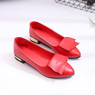 5b0855f18ae4 ... Hemlock Women Office Shoes Flats Sandals Soft Wedding Flats Lady Boat  Wedge Shoes (US  ...