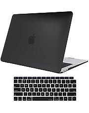 ProCase MacBook Air 13 Inch Case 2020 2019 2018 Release A2179 A1932, Hard Case Shell Cover for MacBook Air 13-inch Model A2179 A1932 with Keyboard Skin Cover-Black