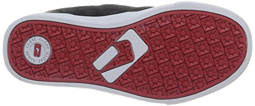 Global Eye Wear Motley-Kids - Zapatos de piel para niños Black/Red/White