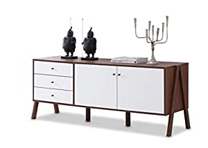 Baxton furniture studios harlow mid century modern scandinavian style wood Swedish home furniture amazon