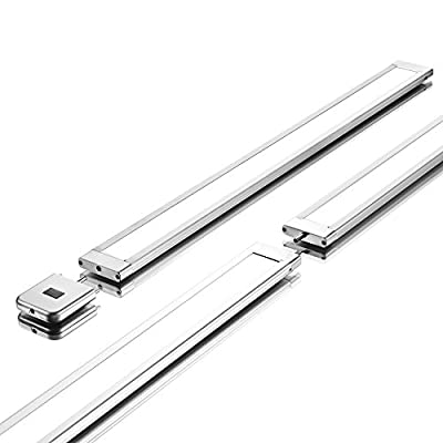 Lux Light 18 Inch Super Slim Linear Neutral White LED Under Cabinet Lighting System with IR sensor and 12V Adapter - Ultra Bright and Light