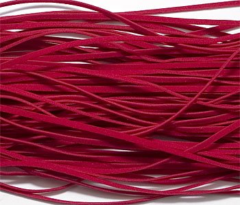(UnCommon Artistry Red Faux Leather Suede Beading Cord 10 Feet Ultra Microfiber)