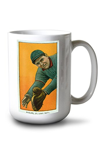 Lantern Press St. Louis Cardinals - Ed Phelps - Baseball Card (15oz White Ceramic Mug) ()