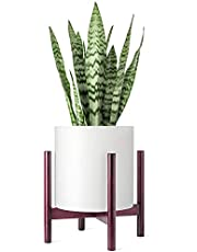 """Plant Stand Indoor/Outdoor Fits 12"""" Pot (Plant Pot Not Included), Wood Flower Pot Holder for Display Rack, Farmhouse or Modern Home Decor"""