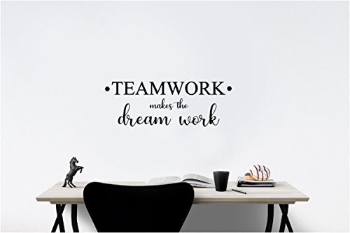 Simple Expressions Arts #2 TEAMWORK makes the dream work Office Classroom sport football cute inspirational family love vinyl quote saying wall art lettering sign room decor by Simple Expressions Arts