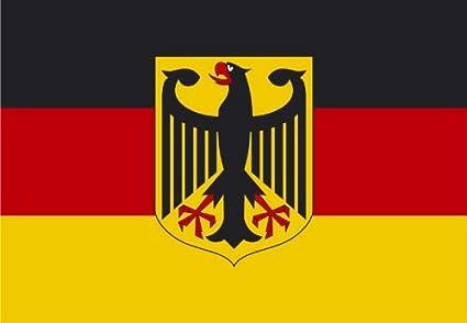 FahnenMax – Bandera de Alemania con águila, 150 x 250 cm: Amazon.es: Jardín