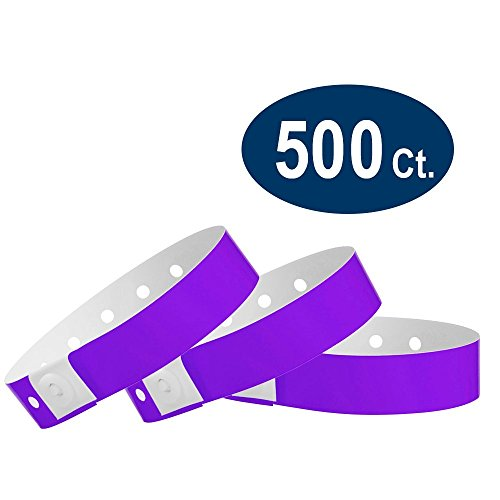 WristCo Purple Plastic Wristbands - 500 Pack Wristbands for Events]()