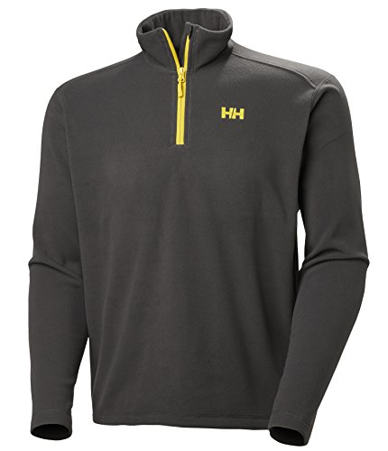 Helly Hansen Men's Daybreaker Lightweight Half Zip Fleece Jacket, 987 Ebony, Large by Helly Hansen